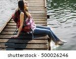 backpacker casual travel...   Shutterstock . vector #500026246