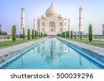 facade view of taj mahal in... | Shutterstock . vector #500039296