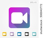 colored icon of photocamera... | Shutterstock .eps vector #500043772