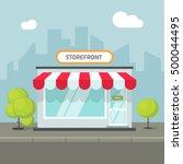 storefront in the city vector... | Shutterstock .eps vector #500044495