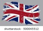 grunge united kingdom flag... | Shutterstock .eps vector #500045512
