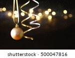 image of christmas festive tree ... | Shutterstock . vector #500047816