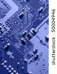 blue macro of printed circuit... | Shutterstock . vector #50004946