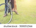 the legs of young couple... | Shutterstock . vector #500051566