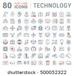 set vector line icons in flat... | Shutterstock .eps vector #500052322