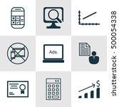 set of 9 universal editable...   Shutterstock .eps vector #500054338