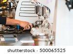 barista cafe making coffee... | Shutterstock . vector #500065525