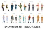 different professions set.... | Shutterstock .eps vector #500072386