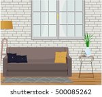 furniture design. interior.... | Shutterstock .eps vector #500085262