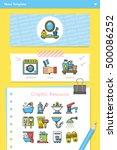 icon set sanitary vector | Shutterstock .eps vector #500086252