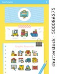 icon set logistic vector | Shutterstock .eps vector #500086375