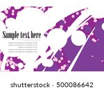abstract business card template ... | Shutterstock .eps vector #500086642