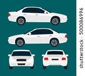 vector white city car  four... | Shutterstock .eps vector #500086996