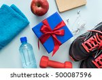 image of fitness accessories... | Shutterstock . vector #500087596