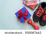 image of fitness accessories... | Shutterstock . vector #500087662