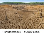 global warming  drought in the...   Shutterstock . vector #500091256