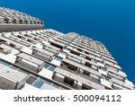 look up of skyscraper | Shutterstock . vector #500094112