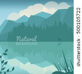 green nature background. nature ... | Shutterstock .eps vector #500105722