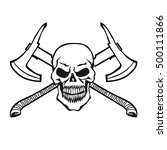 skull with crossed axes | Shutterstock .eps vector #500111866