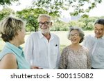 group of senior retirement... | Shutterstock . vector #500115082