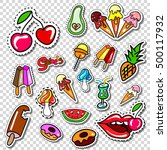 big set of girl fashion patch ... | Shutterstock .eps vector #500117932