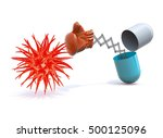 pill with a boxing glove... | Shutterstock . vector #500125096