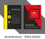 abstract square text frame... | Shutterstock .eps vector #500126032
