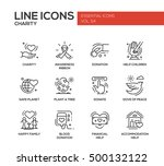 charity   modern vector line... | Shutterstock .eps vector #500132122