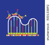 roller coaster icon  amusement... | Shutterstock .eps vector #500133892