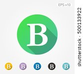 colored icon of letter b with...