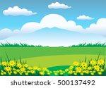 the illustration of mountain... | Shutterstock .eps vector #500137492