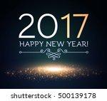 happy new 2017 year design... | Shutterstock .eps vector #500139178