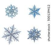Set With Four Snowflakes ...