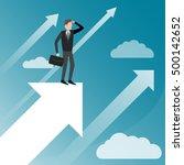 upwards. businessman standing... | Shutterstock .eps vector #500142652