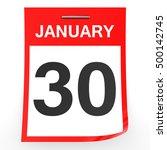 january 30. calendar on white... | Shutterstock . vector #500142745
