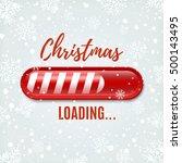 christmas loading bar on winter ...   Shutterstock .eps vector #500143495