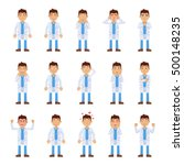 big set of doctor characters... | Shutterstock .eps vector #500148235