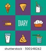 assortment of different dairy... | Shutterstock .eps vector #500148262