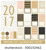 twelve month 2017 calendar... | Shutterstock .eps vector #500152462
