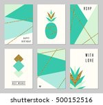 A Set Of Six Abstract Geometri...