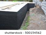 waterproofing house foundation... | Shutterstock . vector #500154562