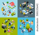 coworking people concept icons... | Shutterstock .eps vector #500155642