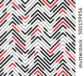 seamless zigzag pattern.... | Shutterstock .eps vector #500159956