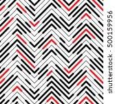 seamless zigzag pattern.... | Shutterstock .eps vector #500159956