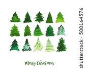 watercolor vector illustration... | Shutterstock .eps vector #500164576