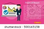 financial report conceptual...   Shutterstock .eps vector #500165158