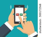 hand  finger pressing buttons... | Shutterstock .eps vector #500172568