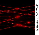 abstract red laser beams.... | Shutterstock . vector #500179642