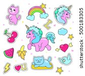 patch badges with hearts ...   Shutterstock .eps vector #500183305