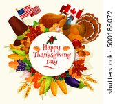Happy Thanksgiving Day. Vector...